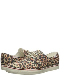 Tan Leopard Canvas Low Top Sneakers