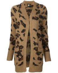 R13 long leopard pattern cardigan medium 691655
