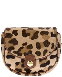 Tan Leopard Clutch