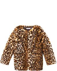 Joe Fresh Kid Girls Leopard Coat Brown
