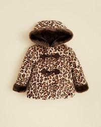 Rothschild Infant Girls Faux Fur Leopard Print Coat Sizes 12 24 Months