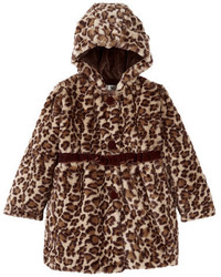 Widgeon Velvet Seamed Empire Faux Fur Coat