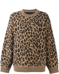 Leopard print sweater medium 3649222
