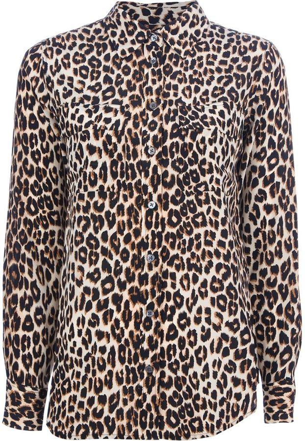 a5a1725c5a ... Tan Leopard Dress Shirts Equipment Signature Leopard Print Shirt