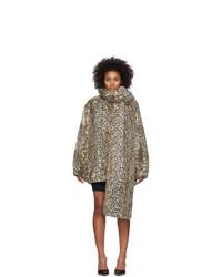 alexanderwang.t Beige Oversized Cheetah Coat