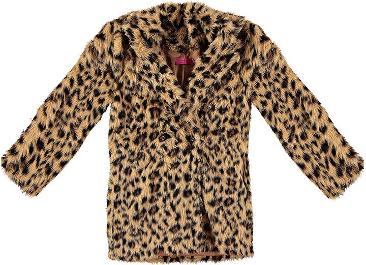 b54658e1c9ba8 Boohoo Charlotte Leopard Faux Fur Coat, $80 | BooHoo | Lookastic.com