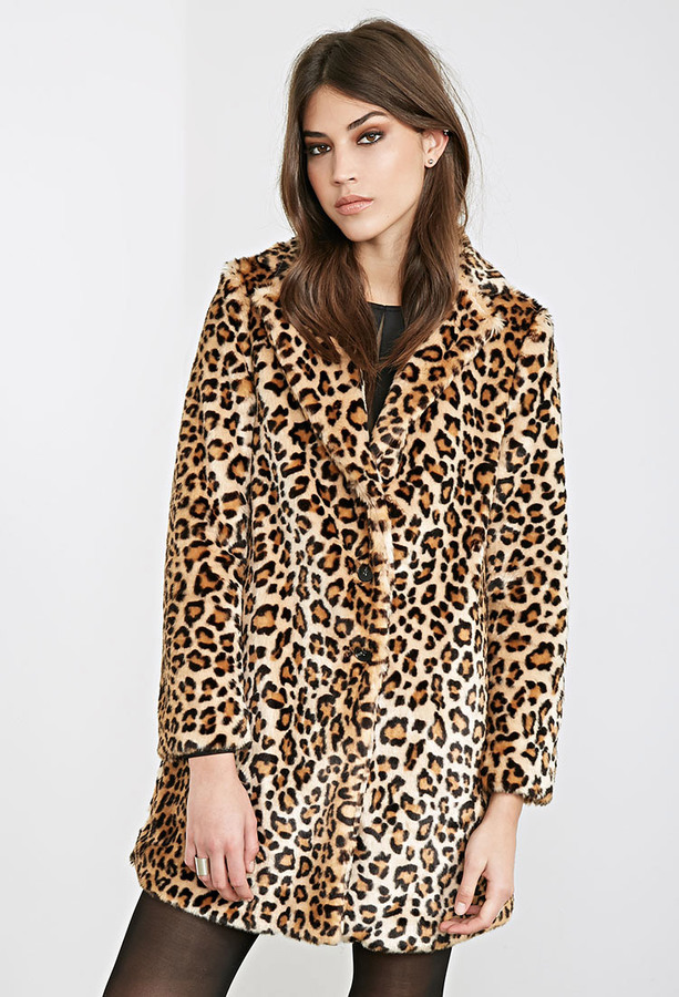 Forever 21 Leopard Print Faux Fur Coat   Where to buy & how to wear
