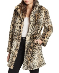Cupcakes And Cashmere Leopard Faux Fur Coat