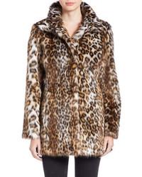 0415e259df2a Women's Tan Leopard Fur Coats from Lord & Taylor | Women's Fashion ...