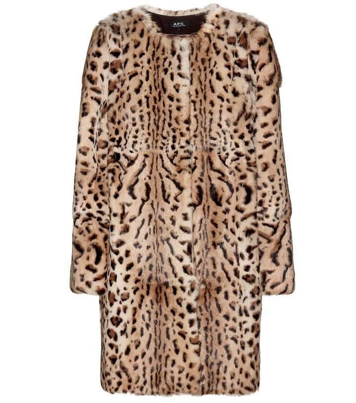 Fonkelnieuw A.P.C. Leopard Print Rabbit Fur Coat, $2,060   mytheresa SE-81