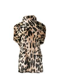Junya Watanabe Leopard Print Wrap Coat