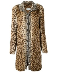 Maison margiela contrast print coat medium 814469