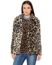 Stella McCartney Leopard Printed Faux Fur Coat