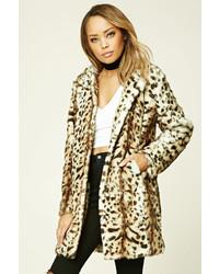 Forever 21 Twelve Faux Leopard Fur Coat