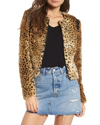 Tinsel Faux Fur Leopard Jacket