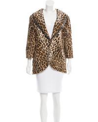 Elizabeth and James Faux Fur Leopard Print Jacket W Tags
