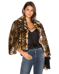 Mother The Boxy Crop Faux Fur Jacket