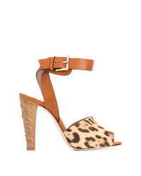 RED Valentino Animal Print Sandals