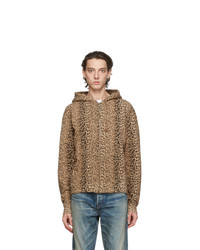 Saint Laurent Brown Leopard Hoodie