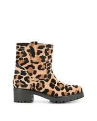 P.A.R.O.S.H. Leopard Print Ankle Boots