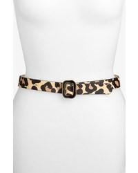 Tan Leopard Leather Belt