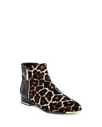 Michael Kors Michl Kors Cindra Leopard Print Calf Hair Snakeskin Chelsea Boots Leopard