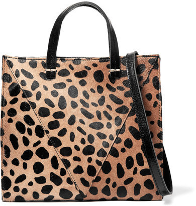 975ea4eef3 ... Clare Vivier Clare V Simple Mini Leopard Print Calf Hair And Textured  Leather Shoulder Bag Leopard ...