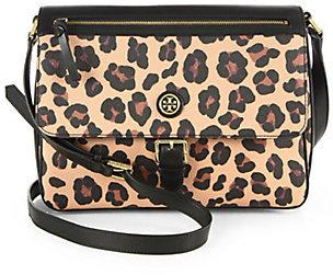 410249b44ec ... Crossbody Bags Tory Burch Kerrington Leopard Print Messenger Bag ...
