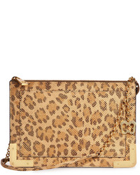Perkins ii embossed leather crossbody bag leopard medium 636287