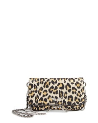 Zadig & Voltaire Zagid Voltaire Nano Rock Snake Embossed Leather Clutch