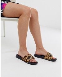 Nike Leopard Print Benassi Slider