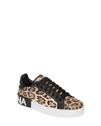 Dolce & Gabbana Portofino Leopard Print Sneaker