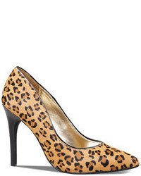 Express Leopard Haircalf Pointed Toe Runway Pump