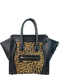 Ann Creek Gauteng Satchel Leopardblack Satchels
