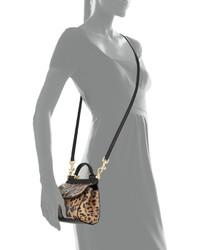 afa314ac87 ... Dolce   Gabbana Miss Sicily Mini Leopard Print Crossbody Bag Nudeblack  ...