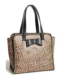 Betsey Johnson Tough Love Faux Leather Tote Leopard