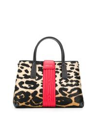 Zanellato Leopard Print Small Tote Bag