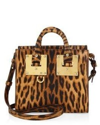 Mini leopard print leather box tote medium 3702395