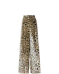 Michel Klein Leopard Print Wide Leg Trousers