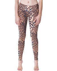 Candida maria leggings brown leopard medium 90177