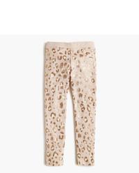 J.Crew Girls Everyday Leggings In Leopard Foil
