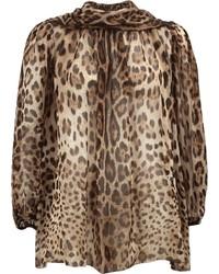 Chiffon neck tie blouse medium 3666251