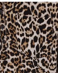 ChicNova Leopard Print V Neckline Blouse