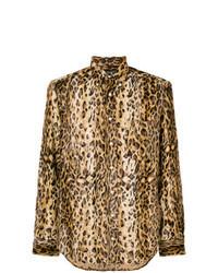 Tan Leopard Long Sleeve Shirt