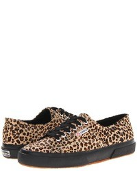 Tan Leopard Low Top Sneakers