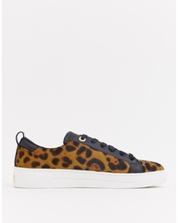 Ted Baker Leopard Pony Trainers