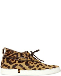 Leopard printed ponyskin sneakers medium 536462