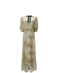 Tan Leopard Maxi Dress