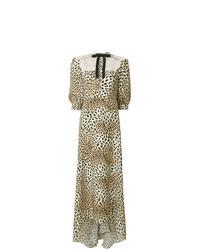 Tan Leopard Maxi Dress