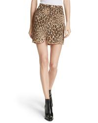 Frame Le Mini Split Front Denim Skirt